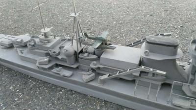 Model lodi s letadlem