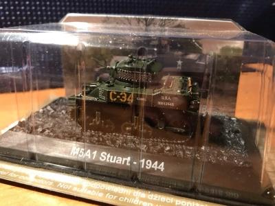 Tank M5A1 Stuart - 1944 měřítko 1:72
